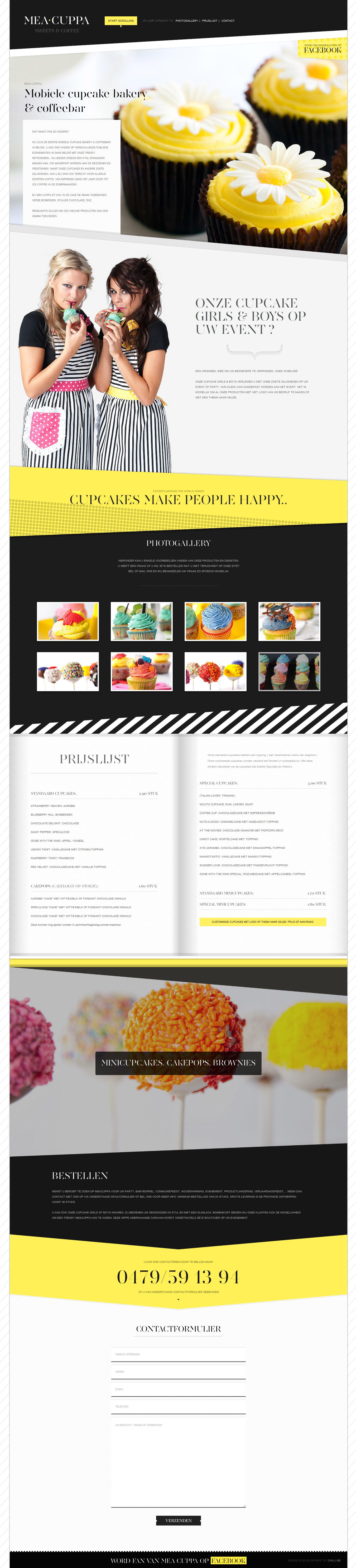 MEA CUPPA Website Screenshot
