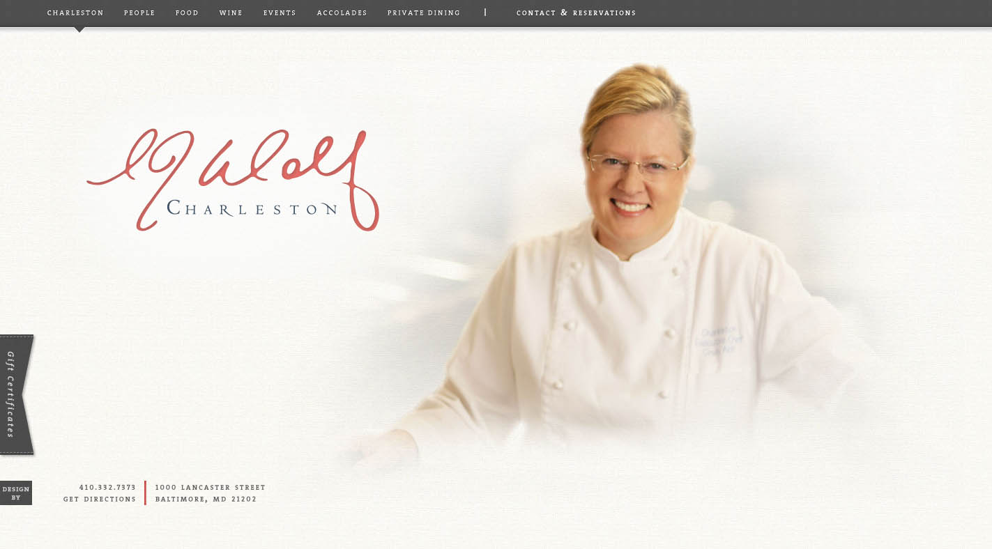 Charleston Website Screenshot
