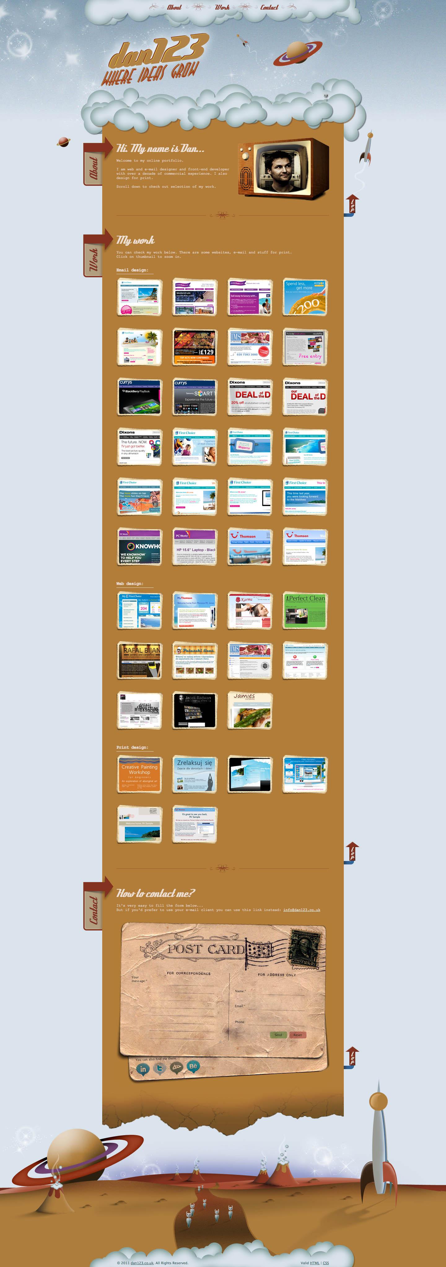 dan123 Website Screenshot