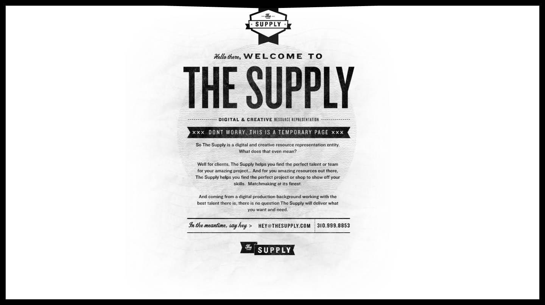 The Supply Website Screenshot