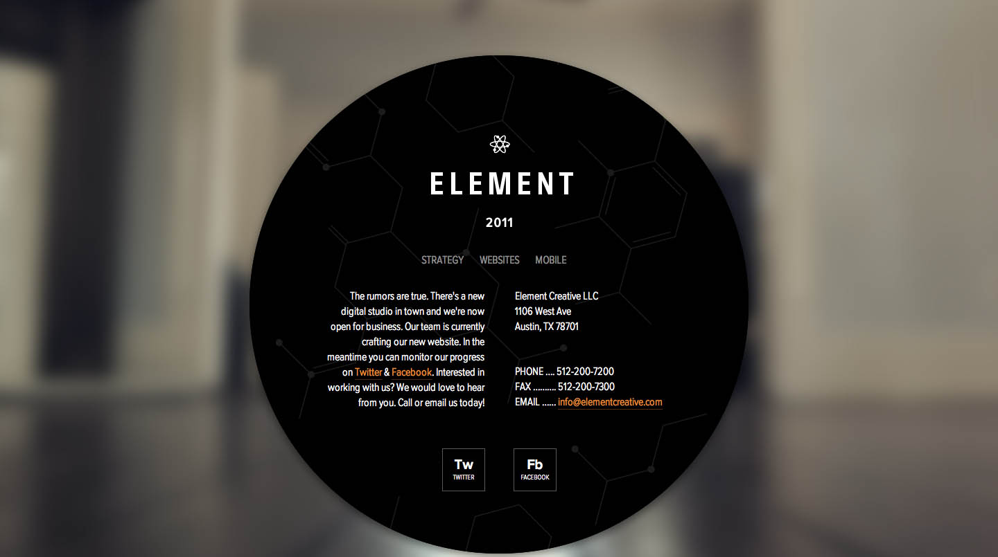 Element Website Screenshot