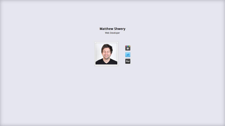 Matthew Shwery Website Screenshot