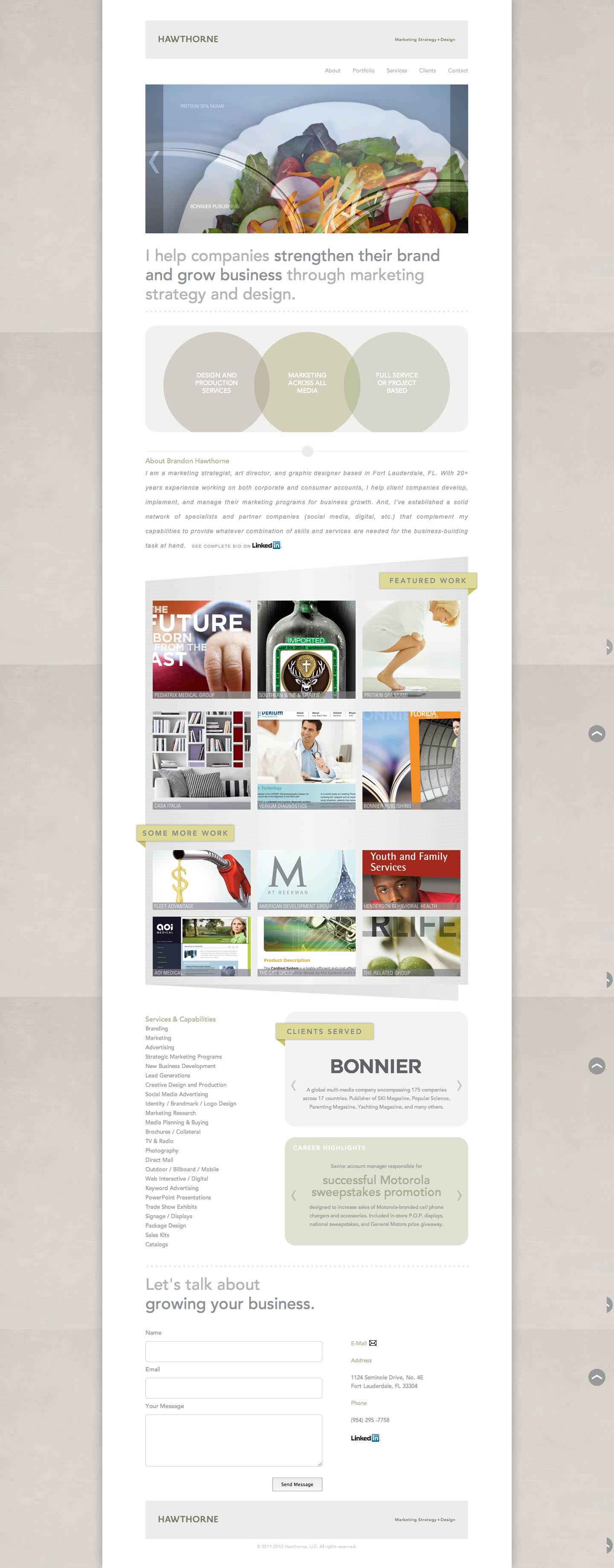 Hawthorne LLC Website Screenshot