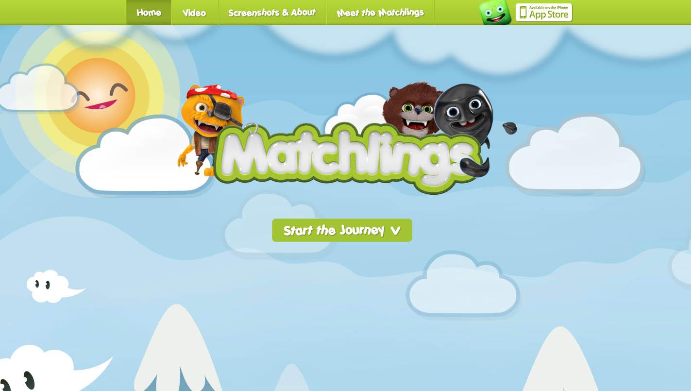Matchlings Website Screenshot