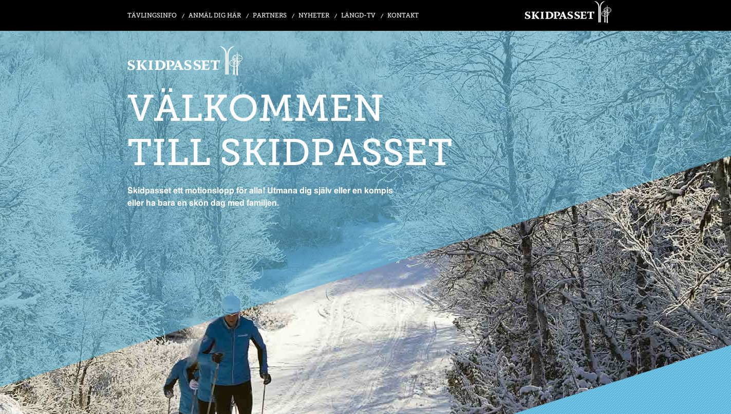 Skidpasset Website Screenshot