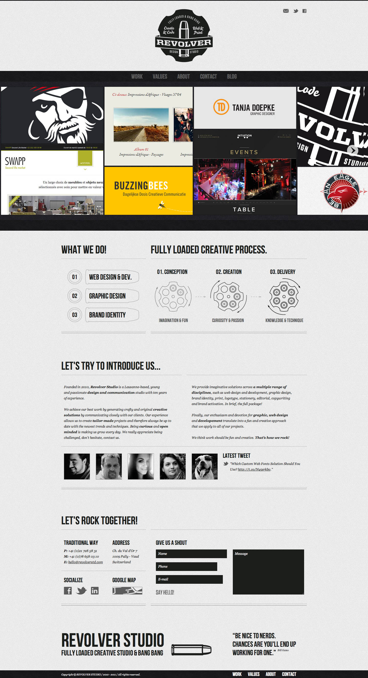 Revolver Studio Website Screenshot