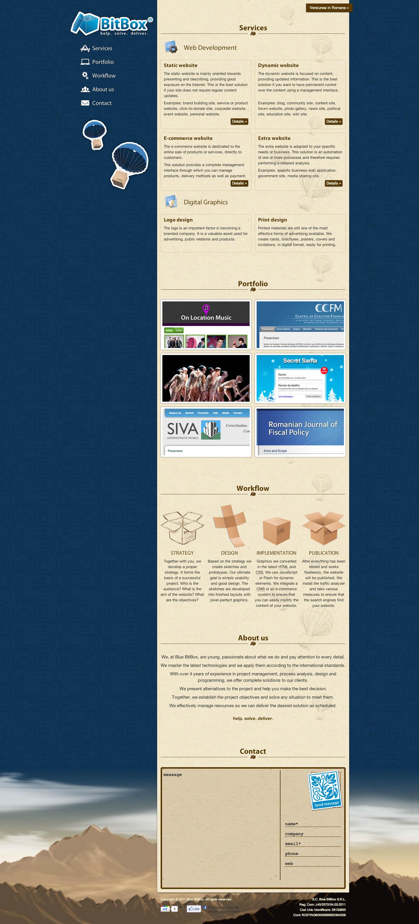 Blue BitBox Website Screenshot