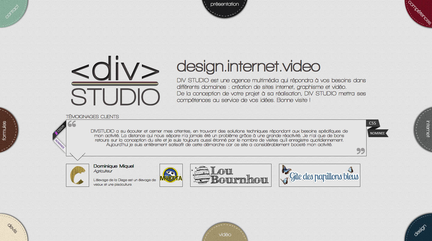 Div Studio Website Screenshot