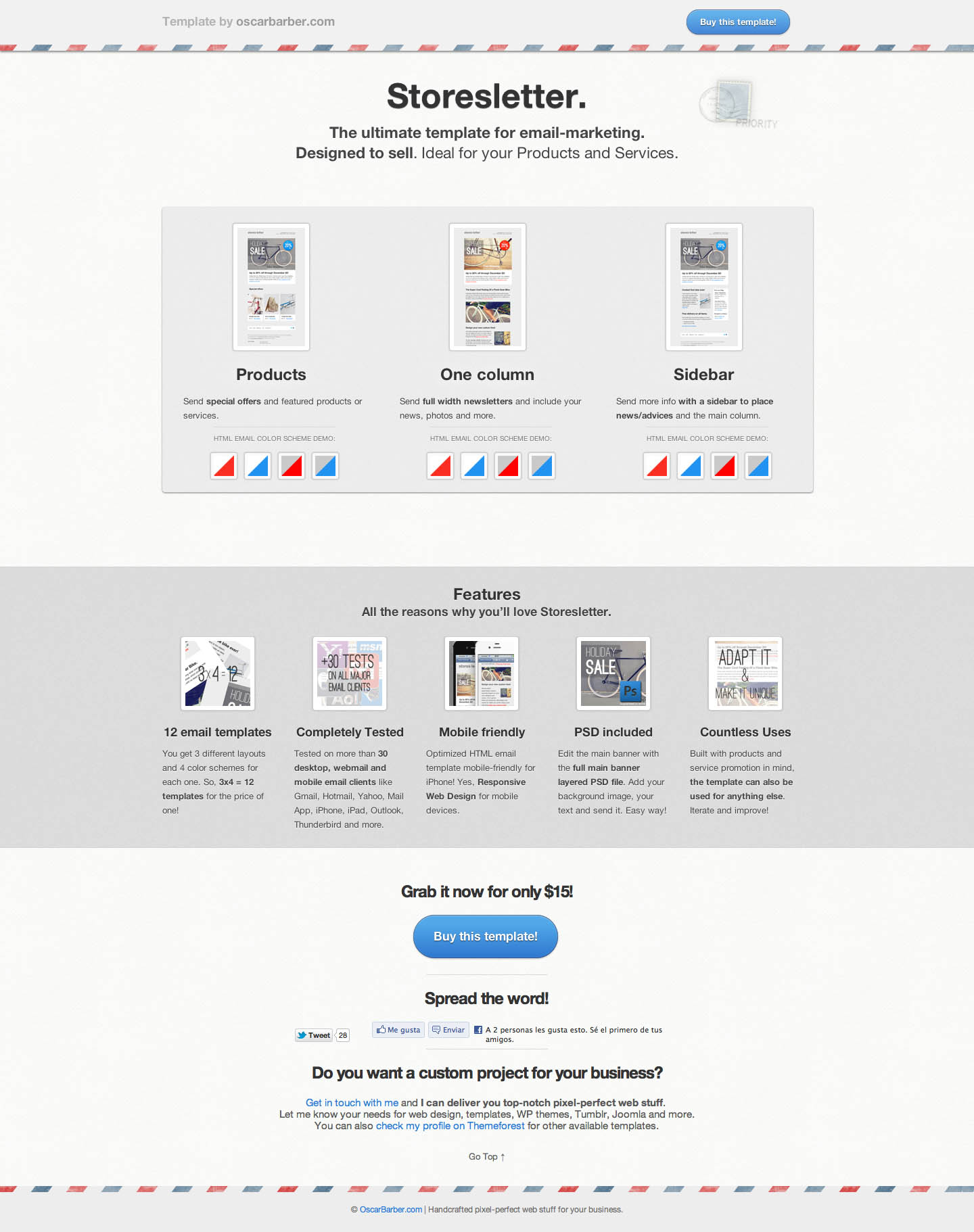 Storesletter Website Screenshot