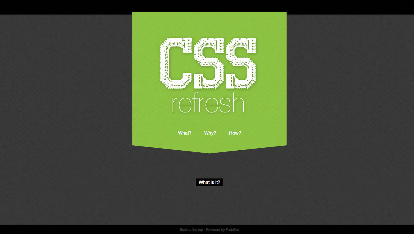 CSSrefresh Website Screenshot