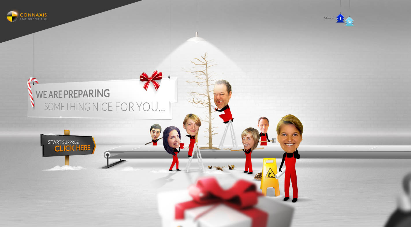 Connaxis Christmas Website Screenshot