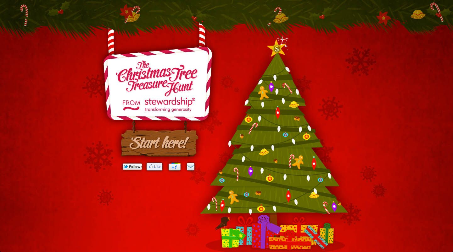 The Christmas Tree Treasure Hunt Website Screenshot