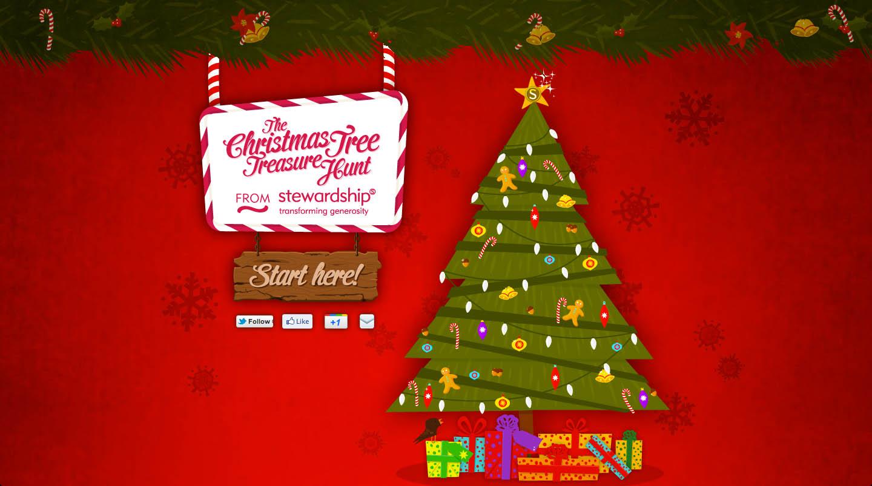 The Christmas Tree Treasure Hunt Website Screenshot