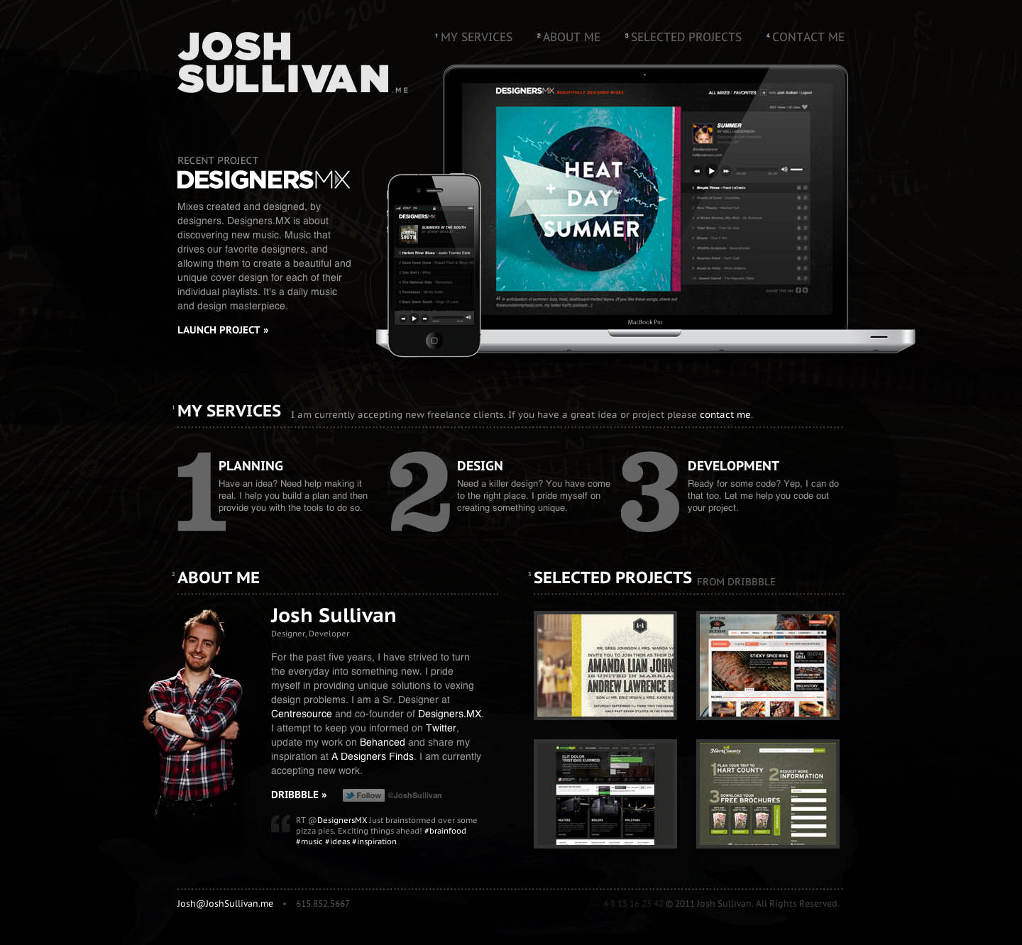 Josh Sullivan Website Screenshot