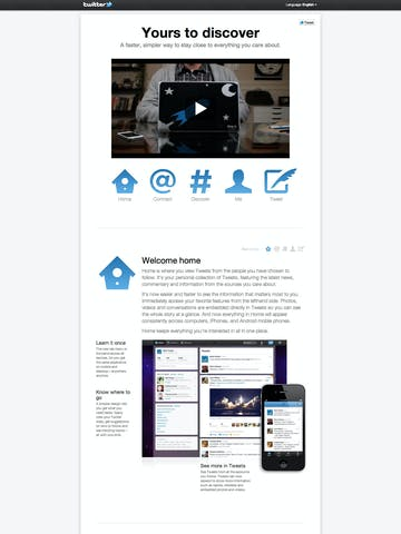 Twitter: Yours to discover Thumbnail Preview