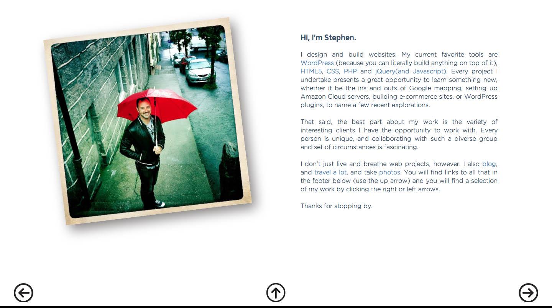 Stephen Suess Website Screenshot