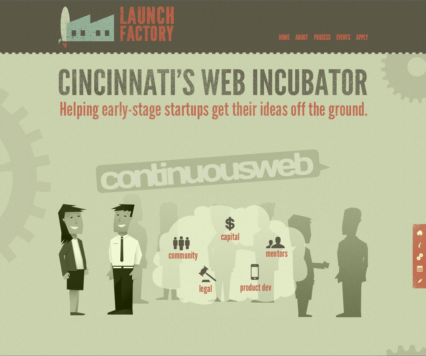 Launch Factory Website Screenshot