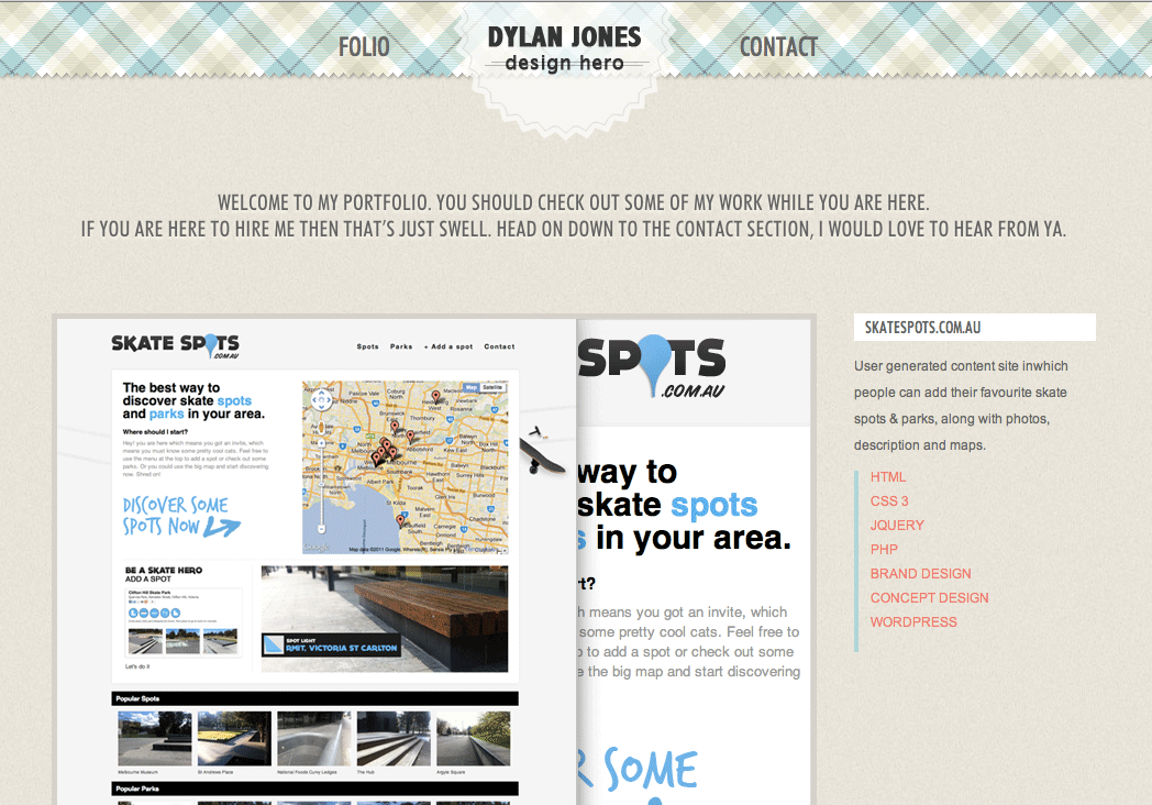 Dylan Jones Website Screenshot