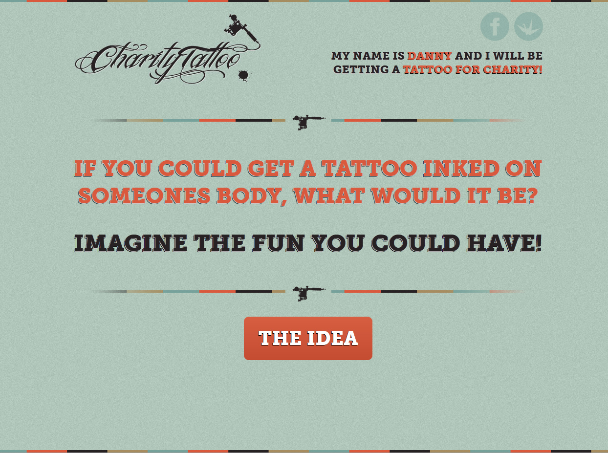 Charity Tattoo Website Screenshot