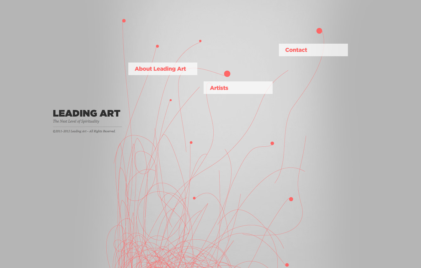 Leading Art Website Screenshot
