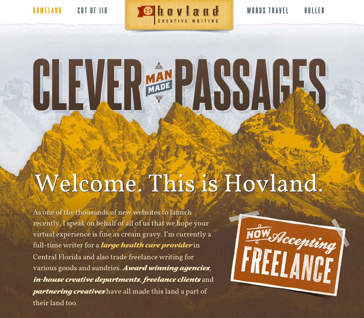 This Land Is Hovland Website Screenshot