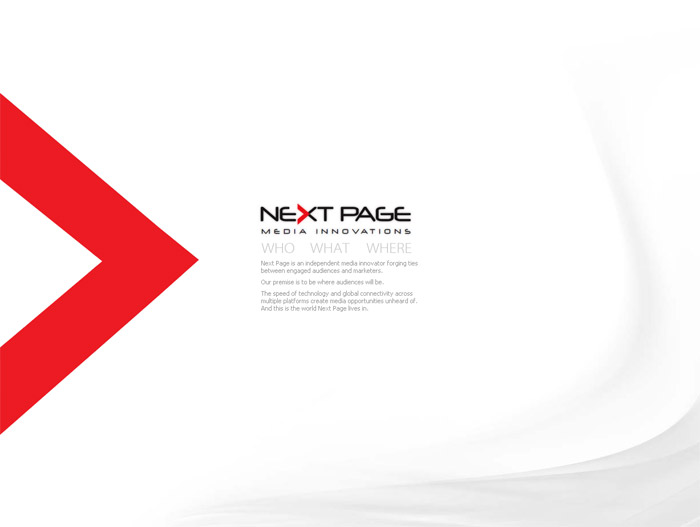 NextPage Media Innovations Website Screenshot