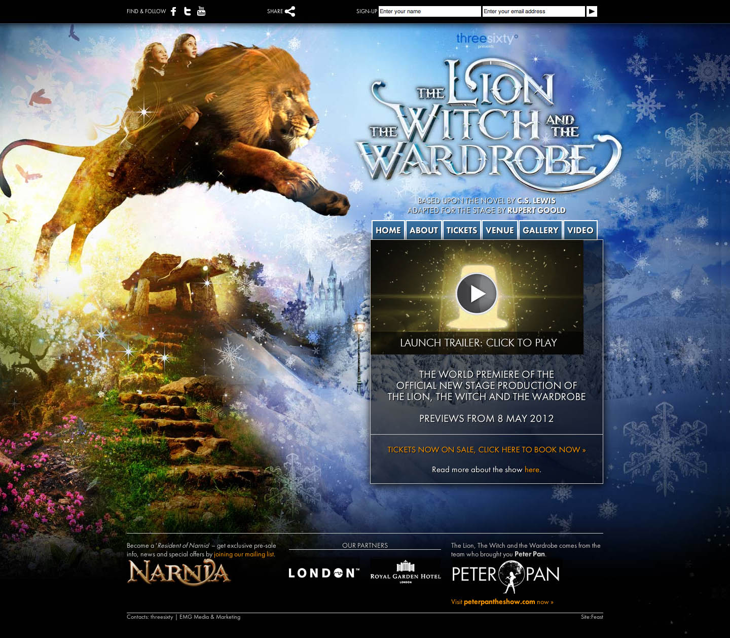 The Lion, the Witch and the Wardrobe Website Screenshot