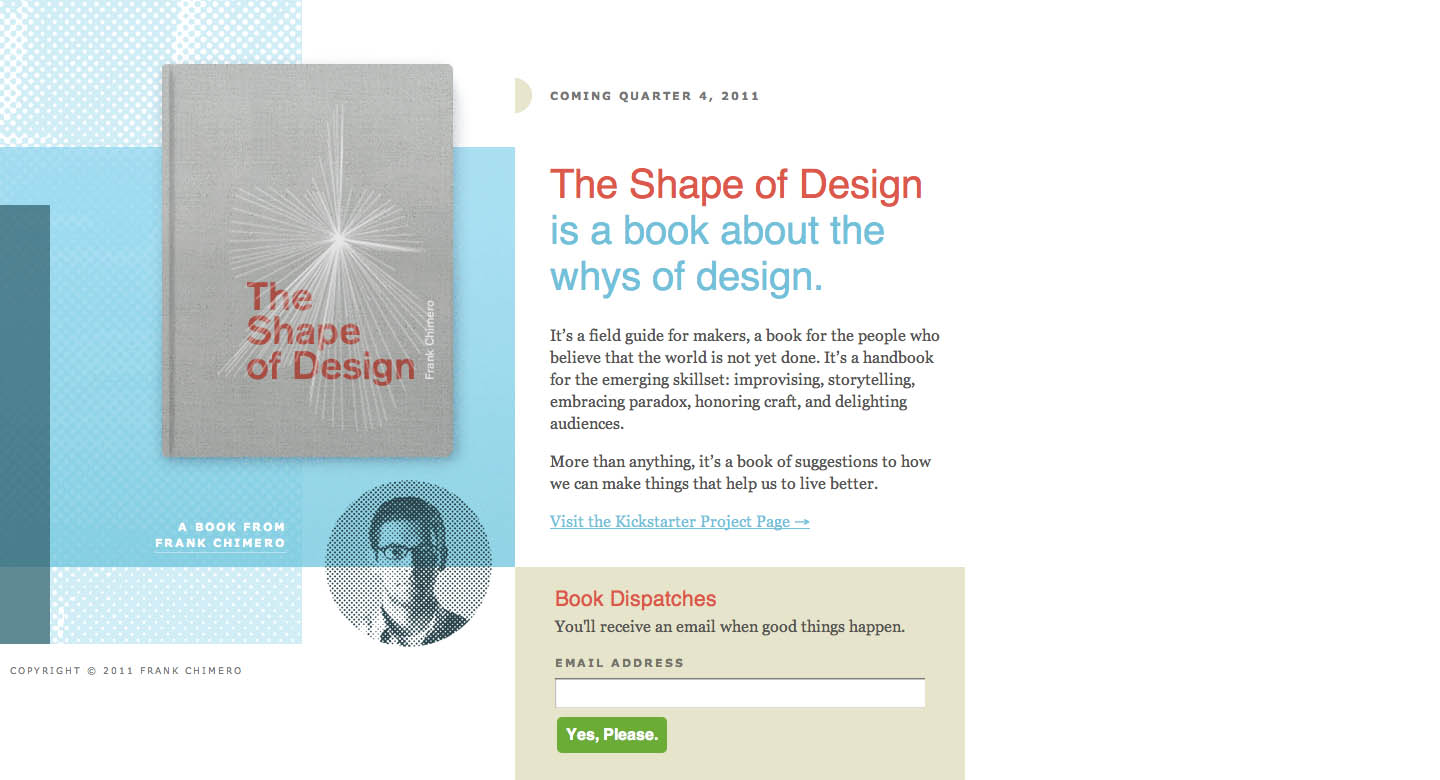The Shape of Design Website Screenshot