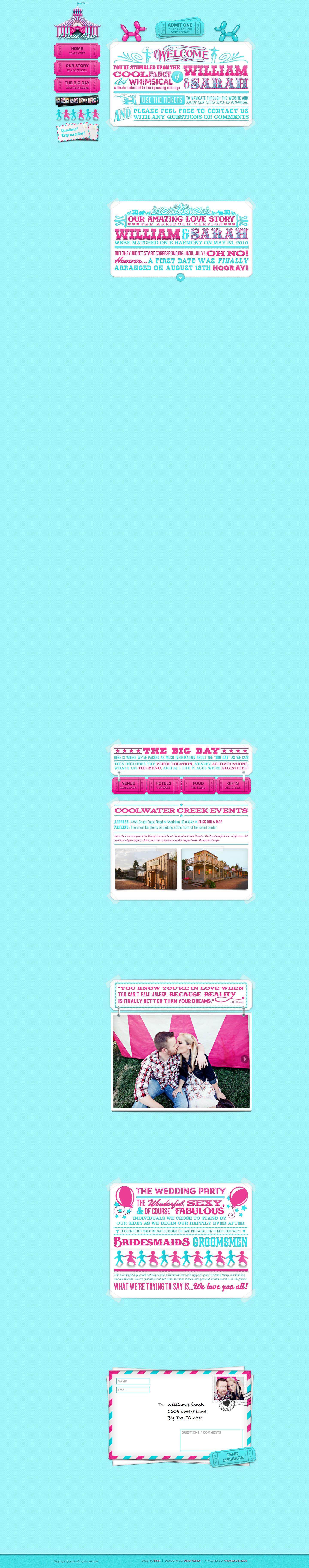 A Tented Affair Website Screenshot