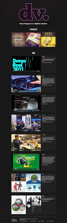 Drew Vergara Website Screenshot