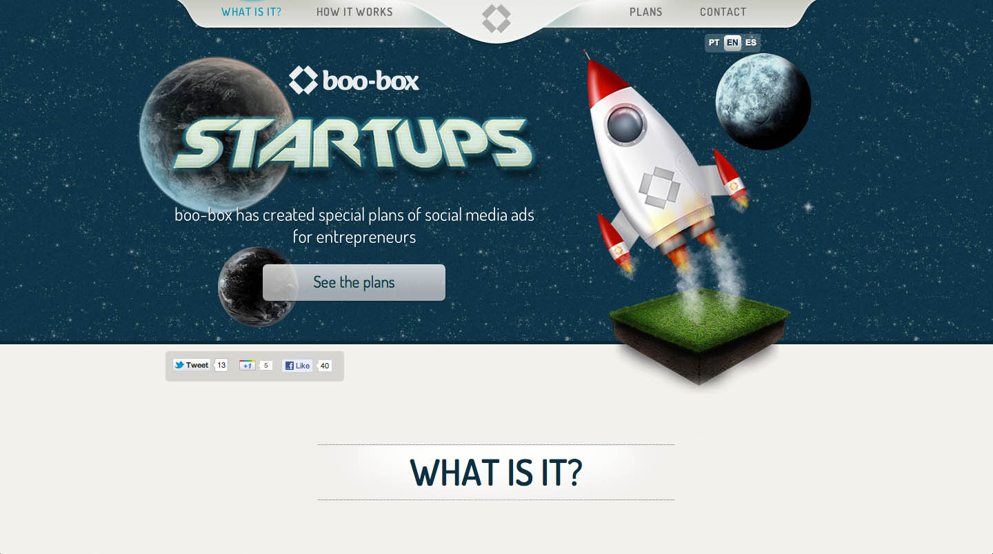 boo-box for startups Website Screenshot
