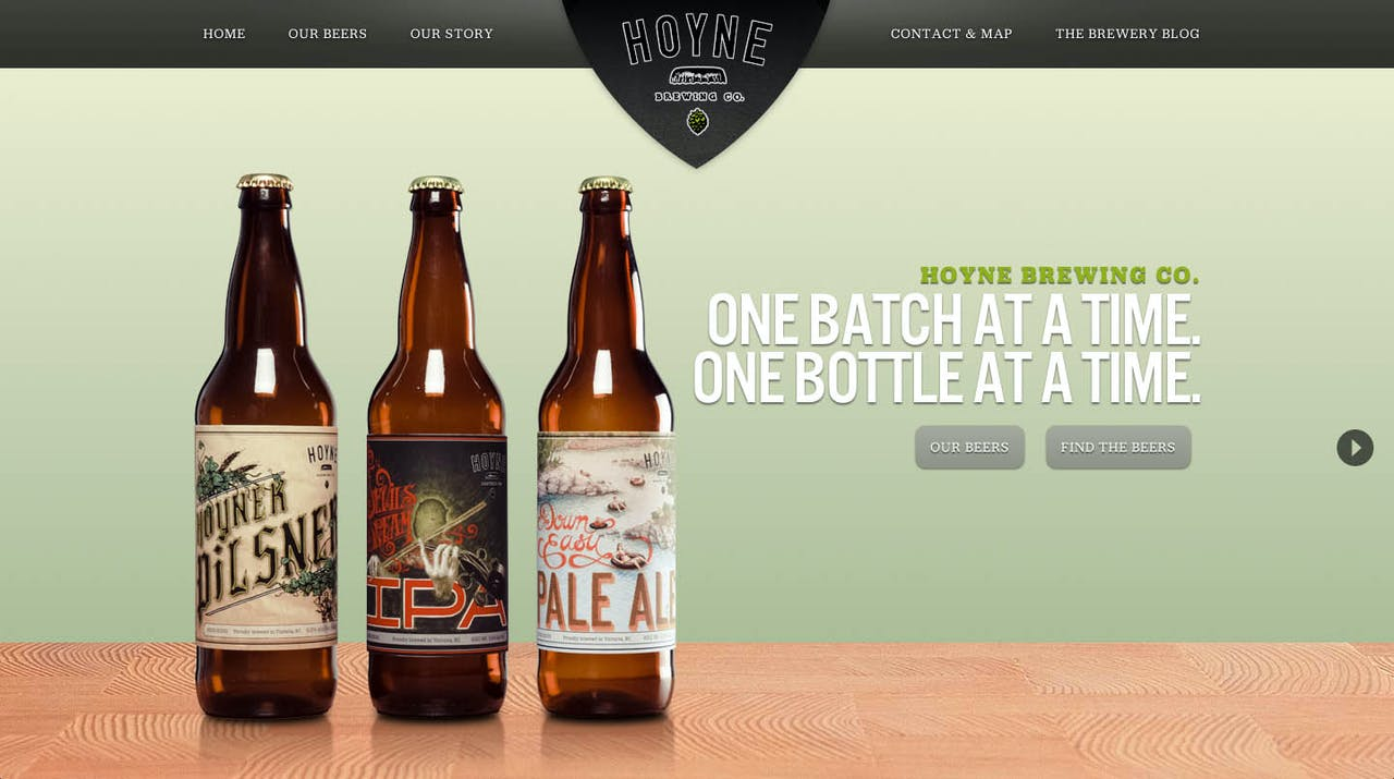 Hoyne Brewing Co. Website Screenshot
