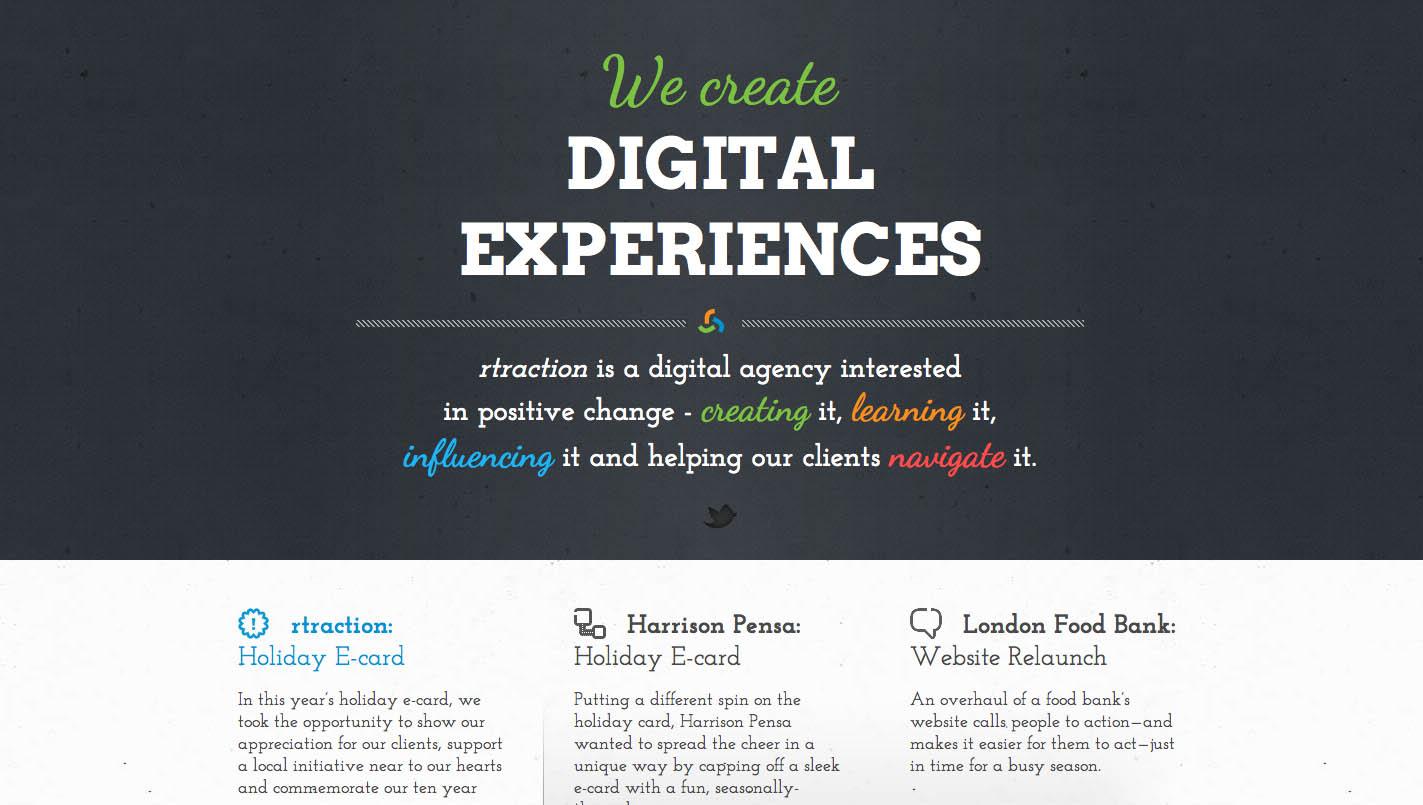 rtraction Website Screenshot