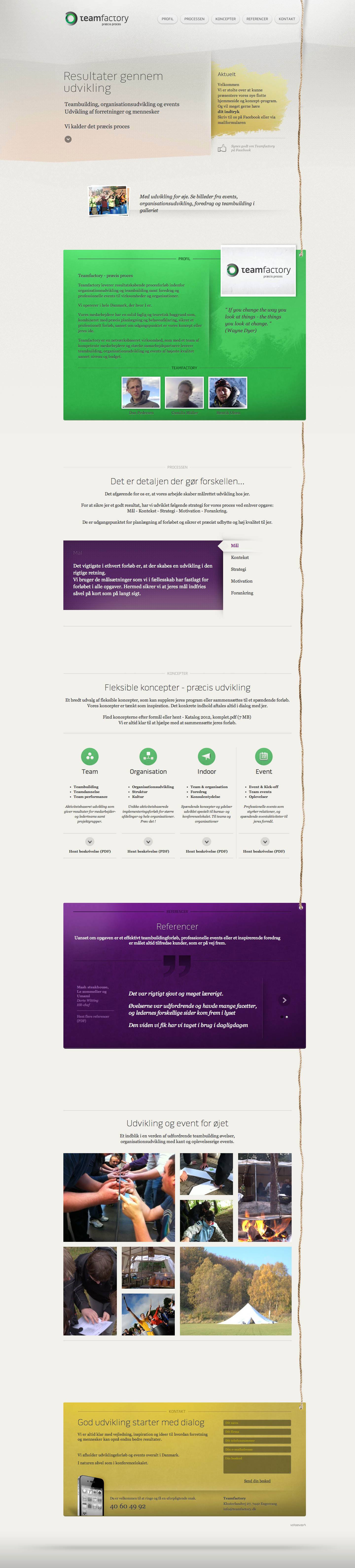 Teamfactory DK Website Screenshot