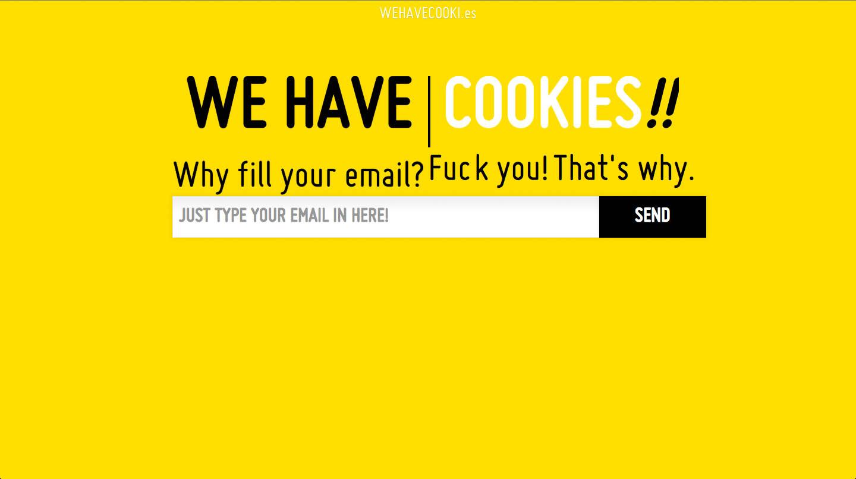 We Have Cookies Website Screenshot