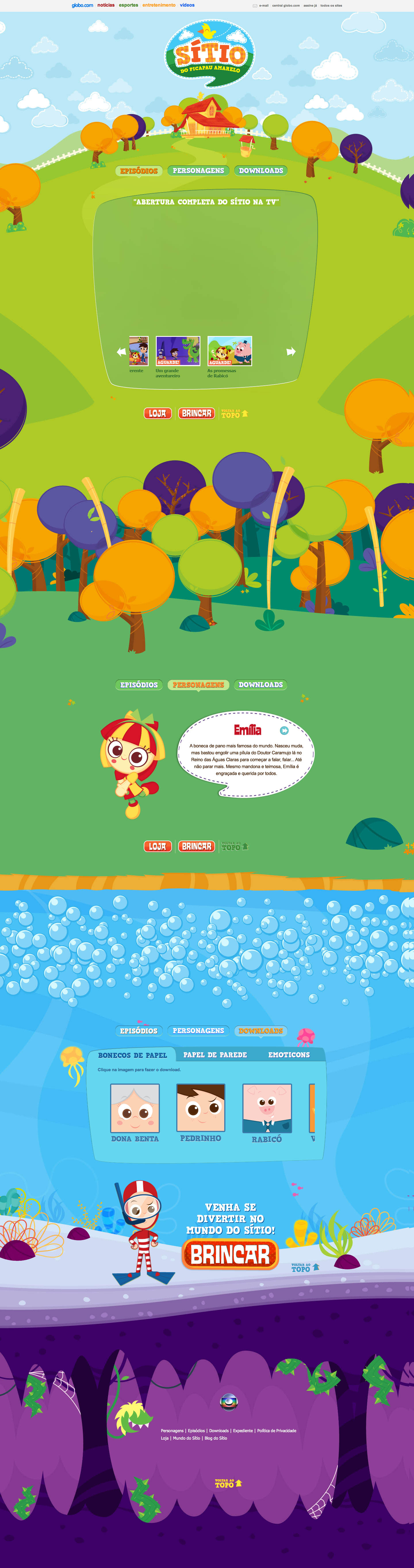 Sítio Website Screenshot
