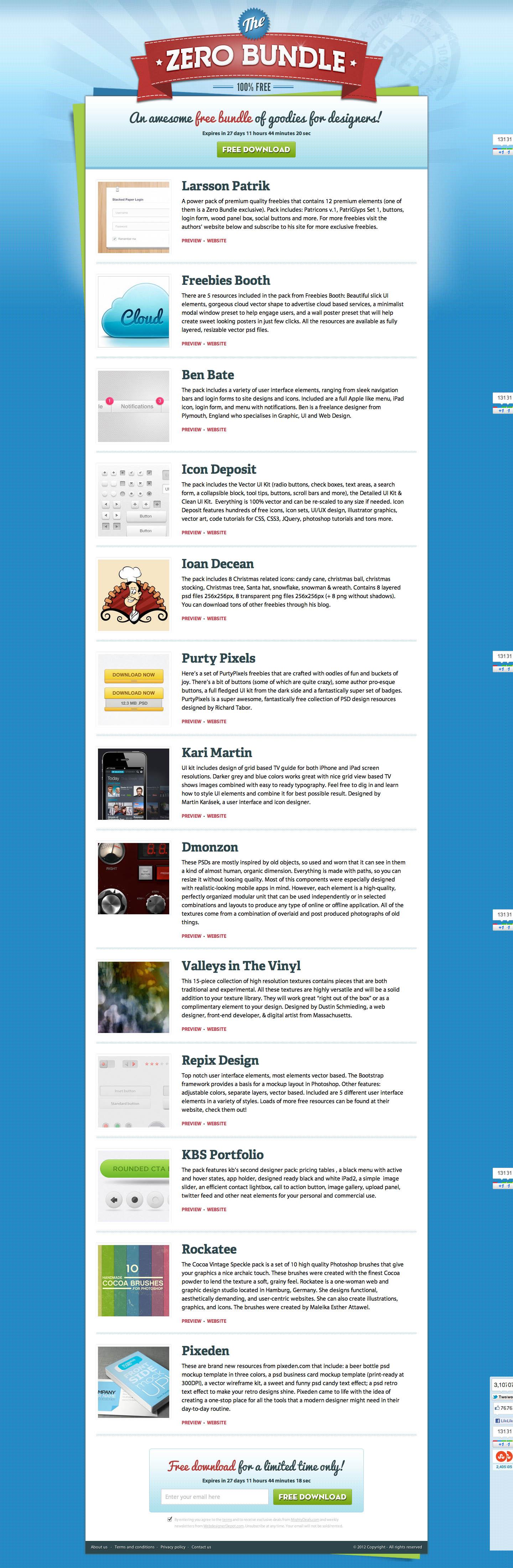 ZeroBundle Website Screenshot