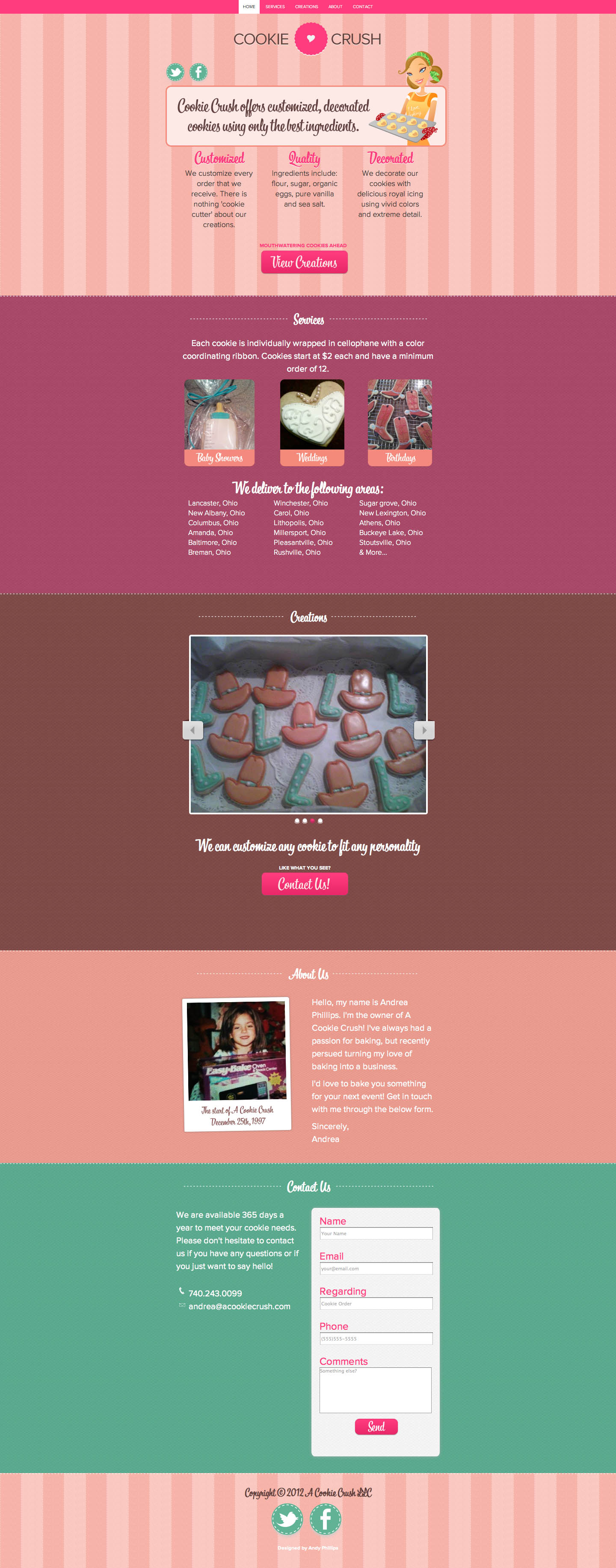 Cookie Crush Website Screenshot