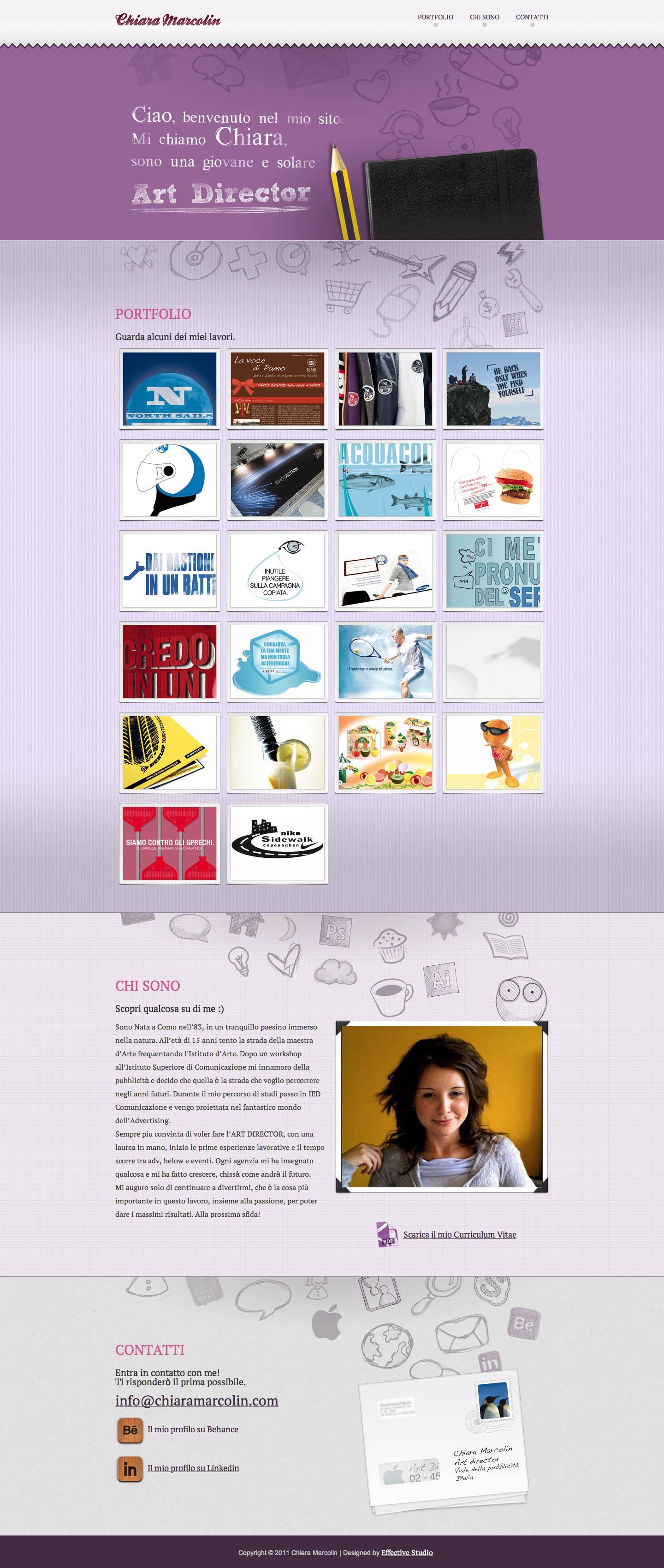 Chiara Marcolin Website Screenshot