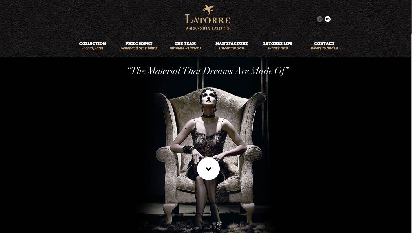 Ascensión Latorre Website Screenshot