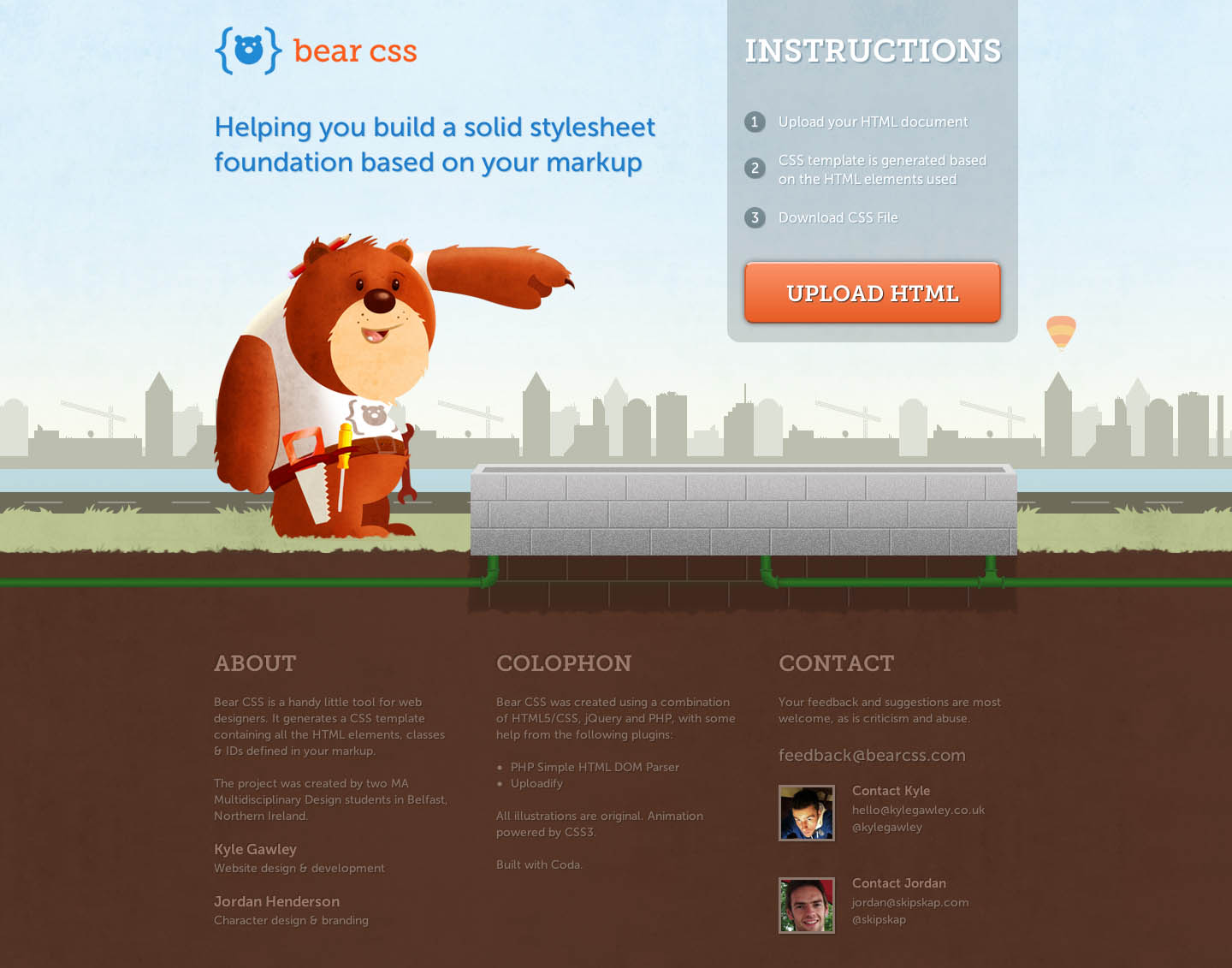 Bear CSS Website Screenshot