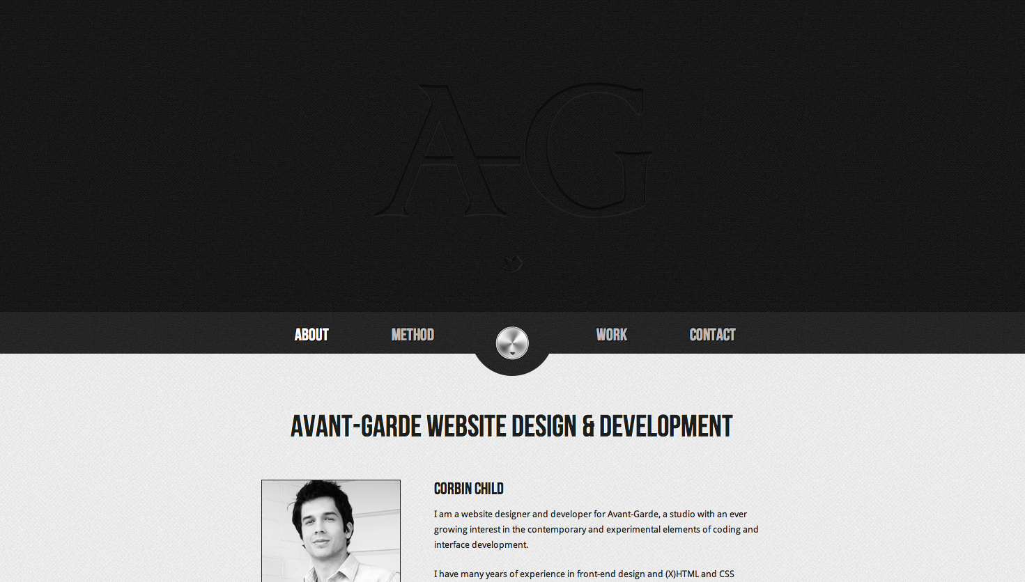 Avant-Garde Website Screenshot