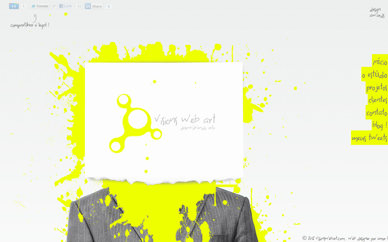 Visions Web Art Website Screenshot