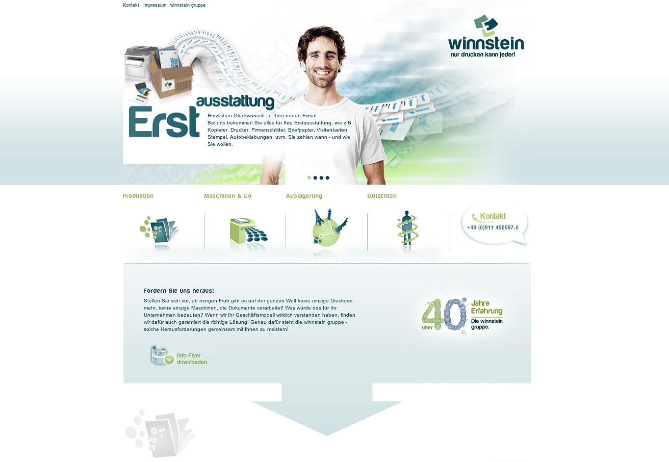 Winnstein Print Consulting Website Screenshot
