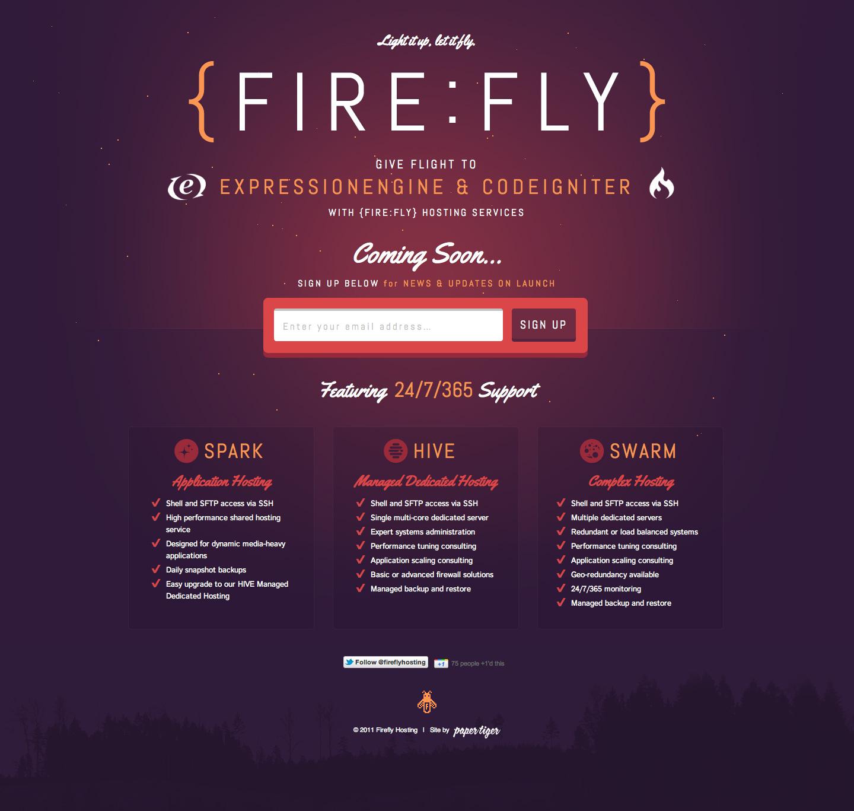 FireFly Website Screenshot