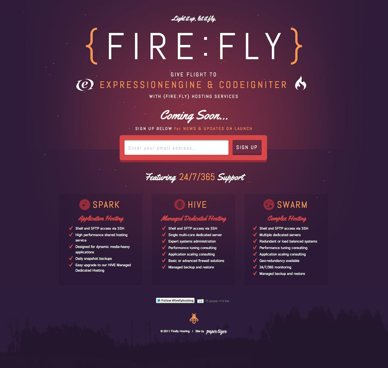 FireFly Website Screenshot