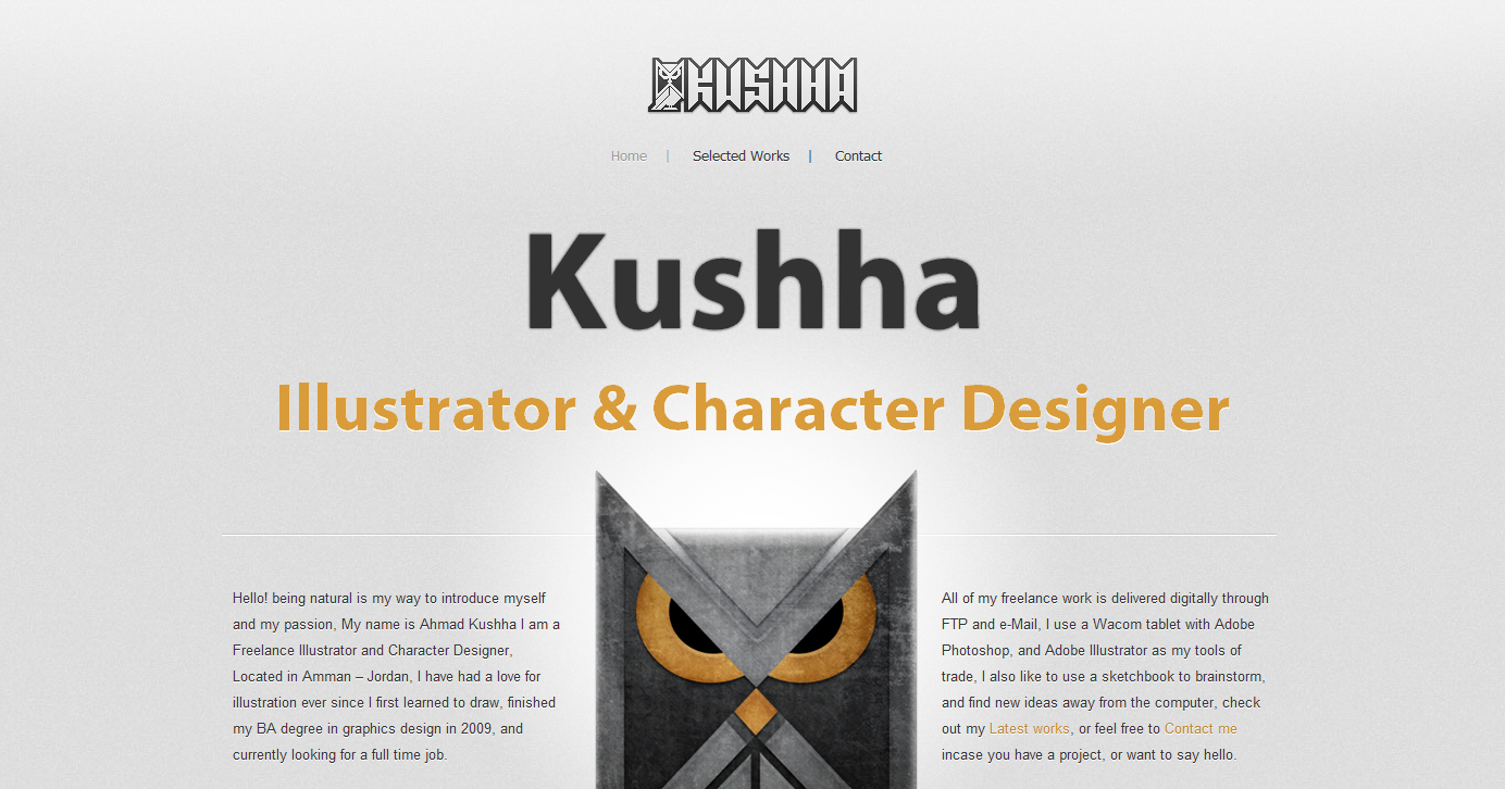 Kushha Website Screenshot