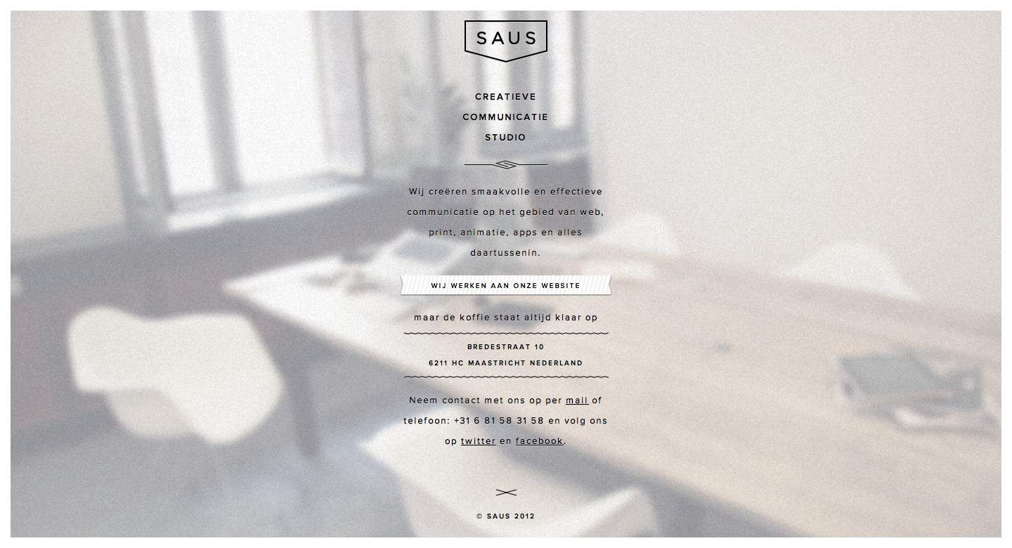Saus Website Screenshot
