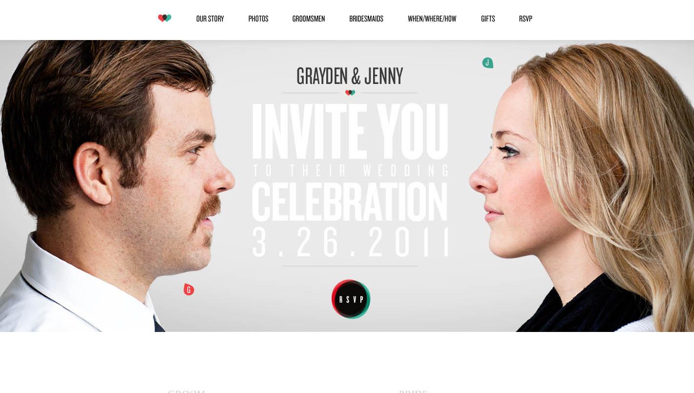 Grayden and Jenny Website Screenshot