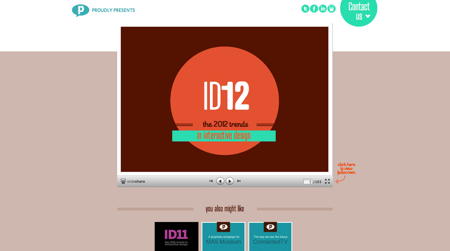 Design Trends 2012 by Prophets Website Screenshot